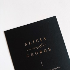 ALICIA & GEORGE / rose gold on black