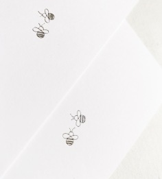 SOPHIE & RICH / hand illustrated bees in silver foil