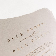 BECK & PAUL / matte gold foil on nude