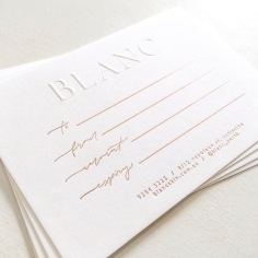 BLANC / gift vouchers in rose gold