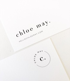 CHLOE MAY / branding in black on white