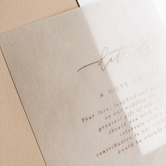 RACHEL & ELLIOT / rose gold on white and vellum