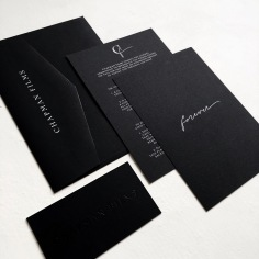CHAPMAN FILMS / branding in white ink on black