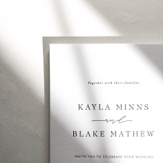 KAYLA & BLAKE / black letterpress on white