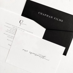 CHAPMAN FILMS / branding in black and white