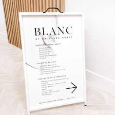 BLANC / signage design and print