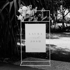 LAURA & JOSH / welcome sign