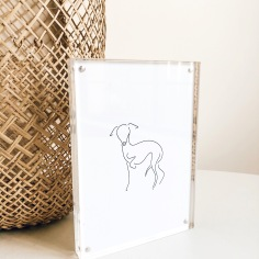 KAITLYN / custom hand drawn italian greyhound