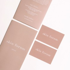 SKIN FORUM / branding, business card and price list design