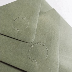 RUBY & OLIVER / blind emboss on envelope flap