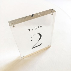 JULIE-ANNE & GEORGE / black and acrylic table numbers