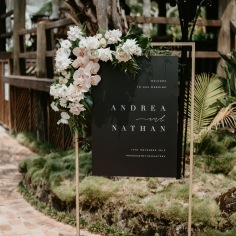 ANDREA & NATHAN / welcome sign