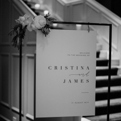 CRISTINA & JAMES / welcome sign