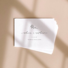 NHIEN & MATHEW / black letterpress invitations