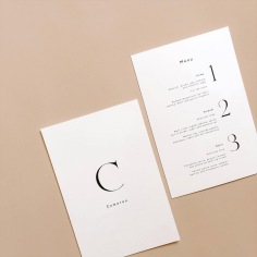 JULIE-ANNE & GEORGE / personalised menus