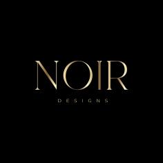 BRANDING / Noir Designs business cards in gold foil and black