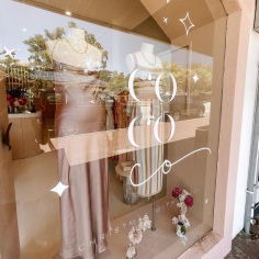 COCO & LOLA / christmas branding and window decals for Perth, Melbourne & Sydney stores