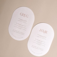 THE REFINERY / pill shape menus on pale pink