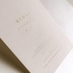KERRI & ADAM / gold foil on 550gsm nude