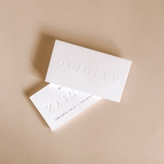 OVIDIAN / business cards in blind emboss