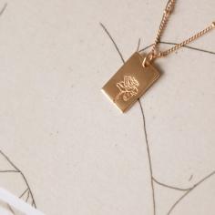 BIANKO x PAIGE TUZEE / custom illustrated birth flower necklaces