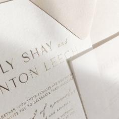 EMILY & BRENTON / gold foil on warm white