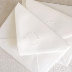 EMILY & KIERAN / custom emboss stamped envelopes