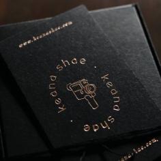KEANA SHAE / branding in rose gold foil on black