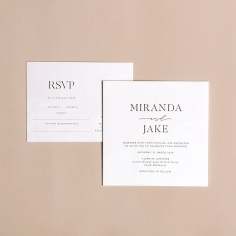 MIRANDA & JAKE / black letterpress on white