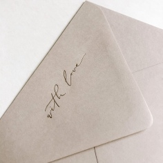 WITH LOVE / stone envelopes with gold foil