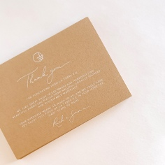 LA TERRE VIE / thank you cards with hand lettering on terracotta