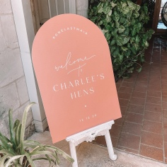 CHARLEES HENS / welcome sign
