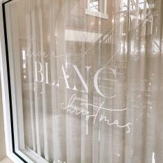 BLANC / christmas window decals