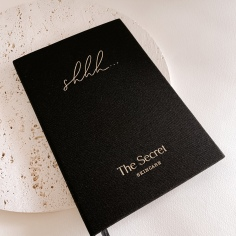 THE SECRET / custom hand lettering printed on diaries